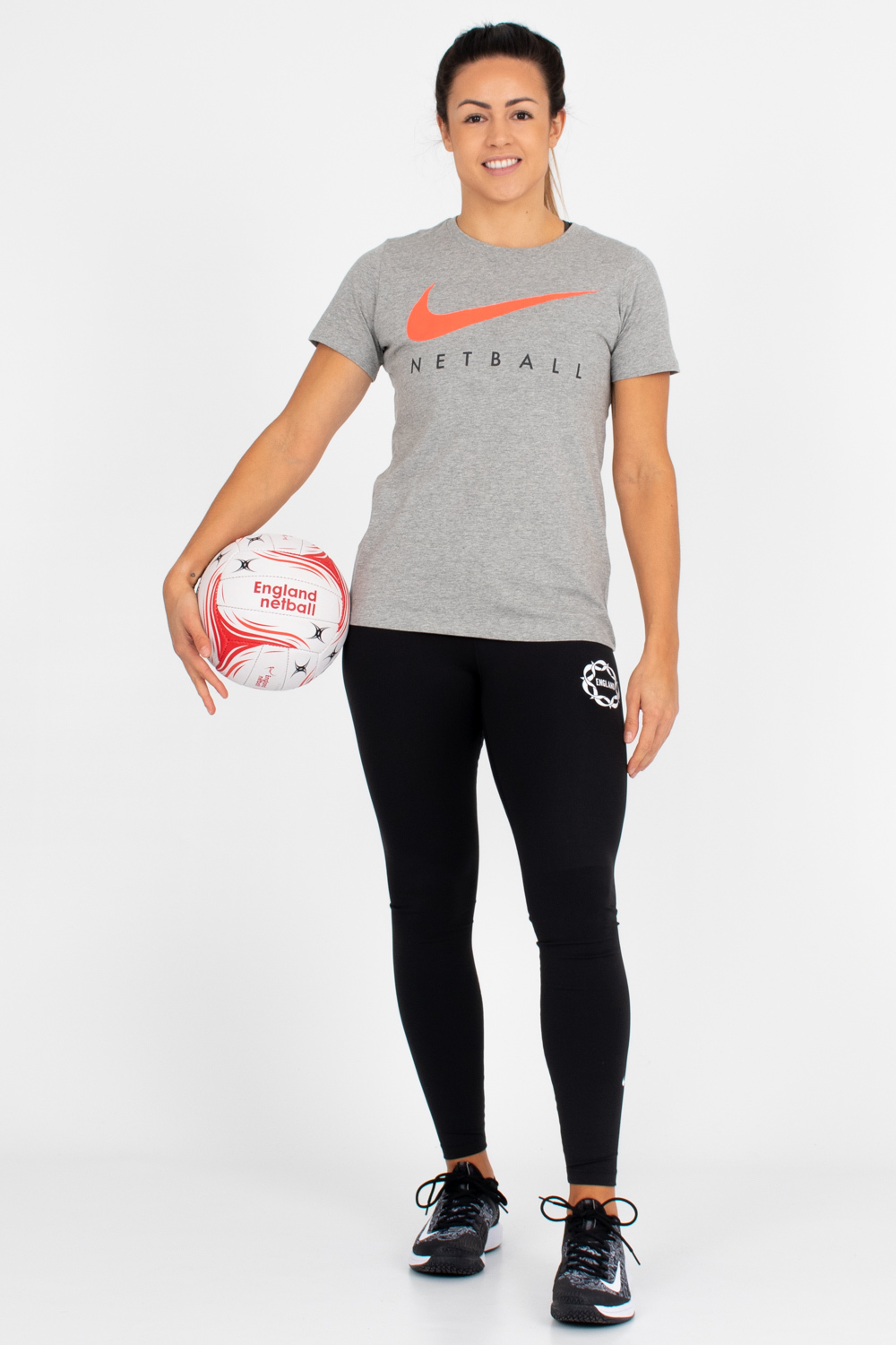 Womens England Netball Swoosh Youth's Graphic Tee