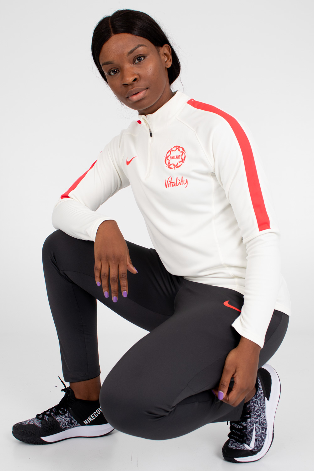 Womens England Netball Women's Training Midlayer
