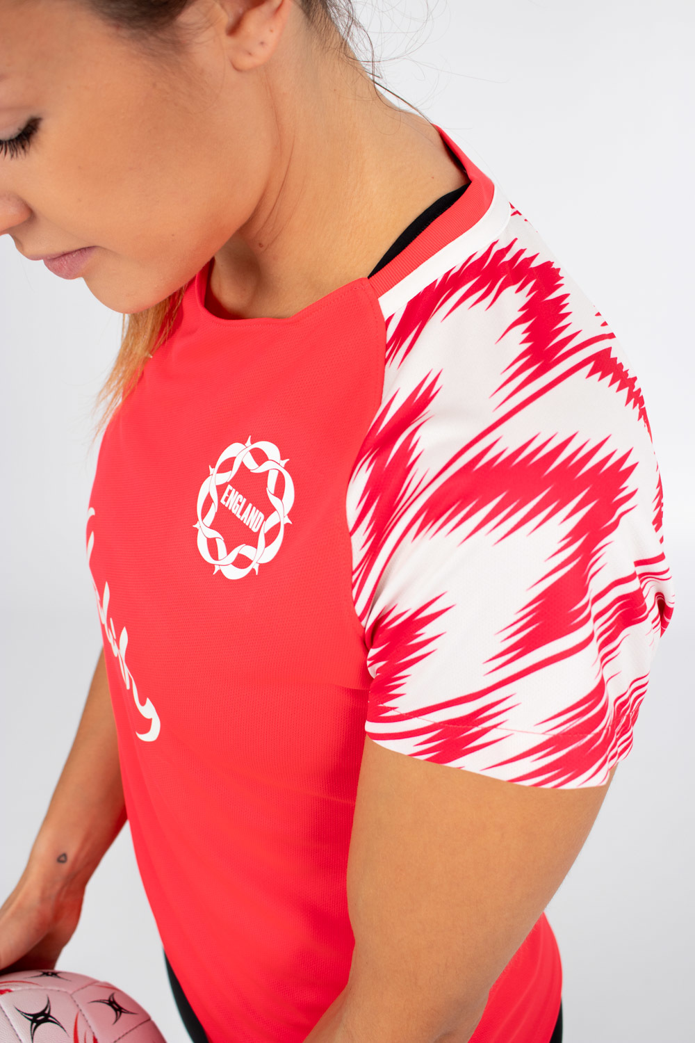 Womens England Netball Youth's Warm Up Tee