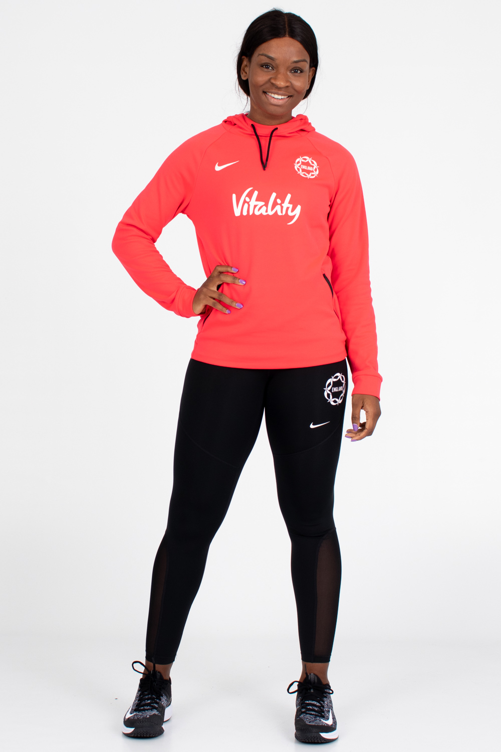 Womens England Netball Training Hoody