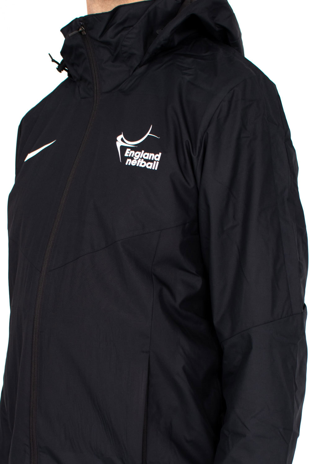 Team White Nike Academy 18 Rain Jacket