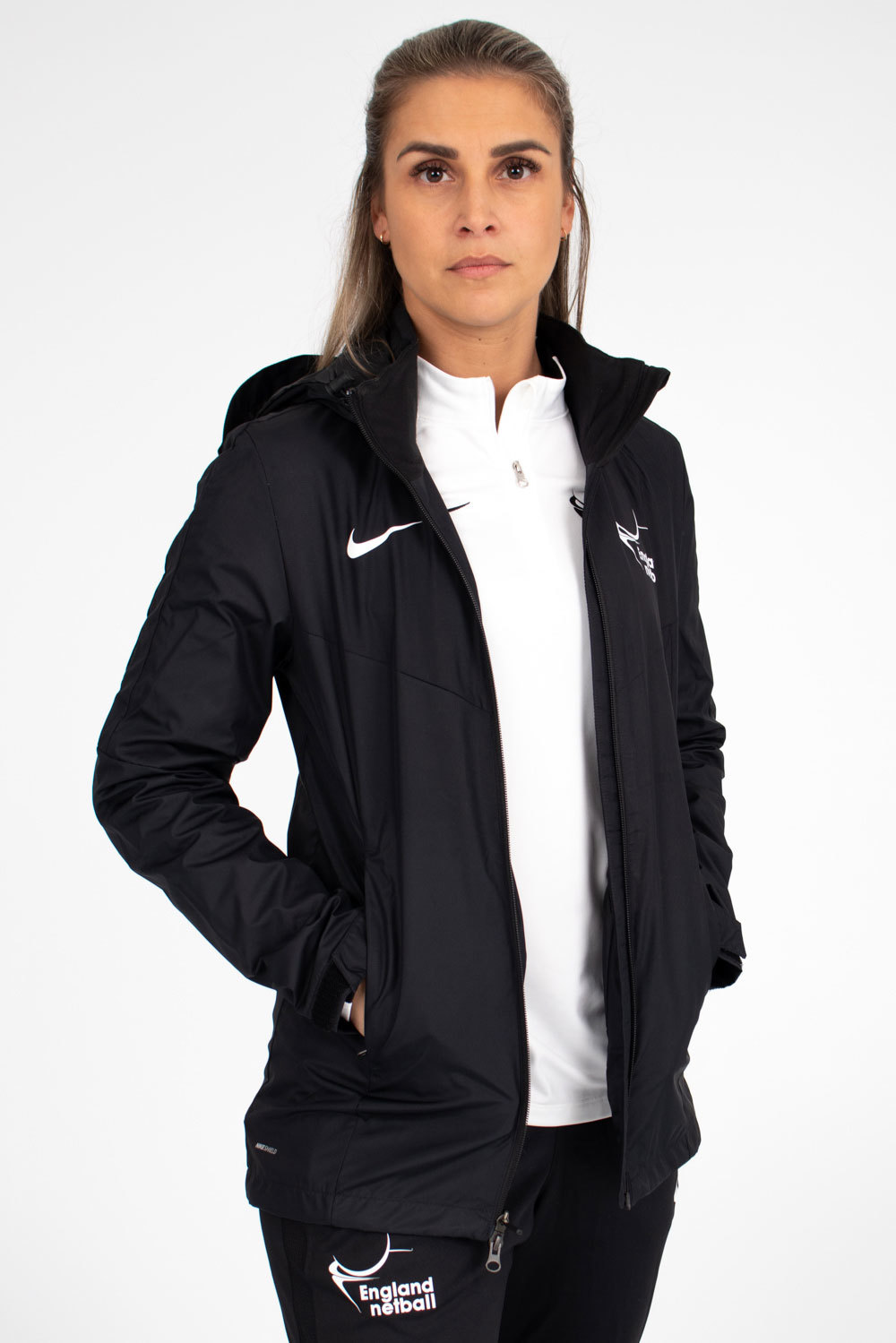 Womens Team White Nike Academy 18 Rain Jacket (w)