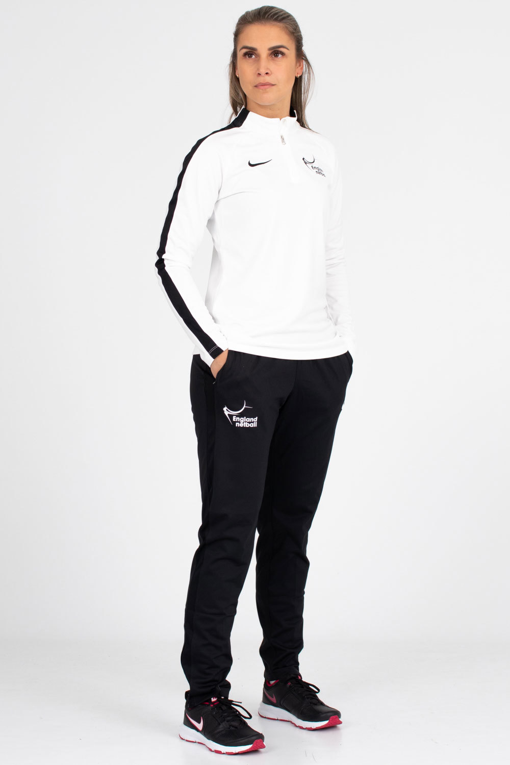 EN-Kitlocker Womens Team White Nike Academy 18 Tech Pant (w)