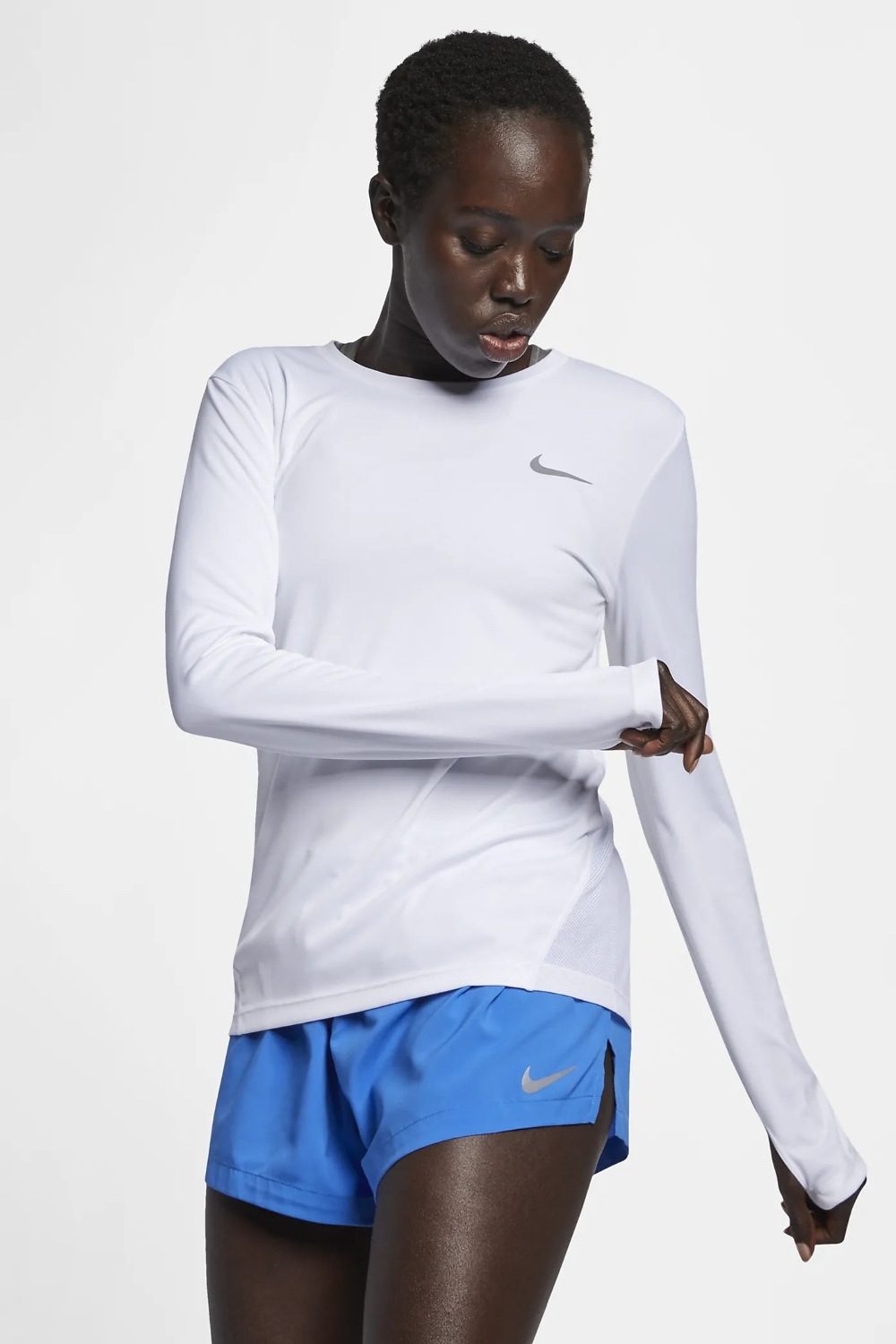 Nike Womens Miler Long Sleeve Tee (w)