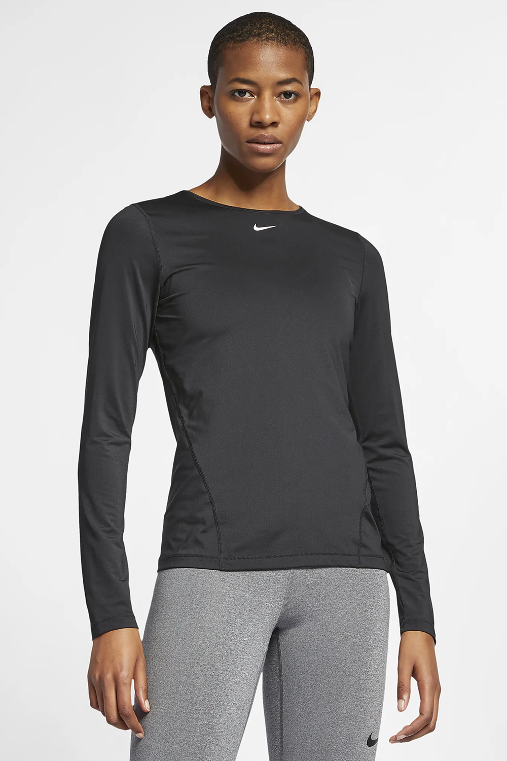 Nike Womens Pro Long-sleeve Mesh Top